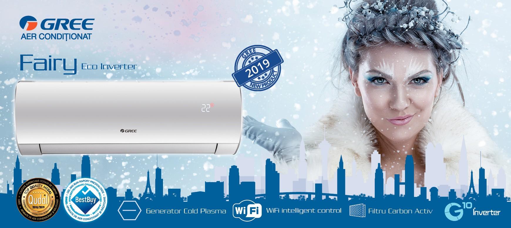Aer conditionat ECO Inverter Gama Fairy 18000 BTU